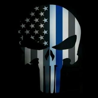 Blue Lives Matter Skull